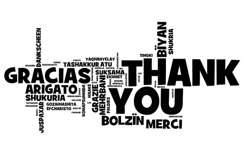 Gratitude in many languages