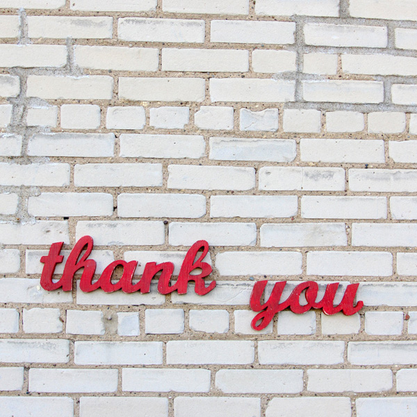 gratitude on the wall