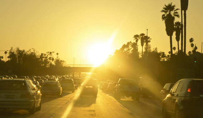 freeway sunset