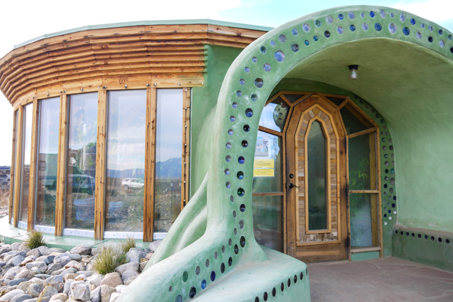 Earthship Biotecture Global model showcase house