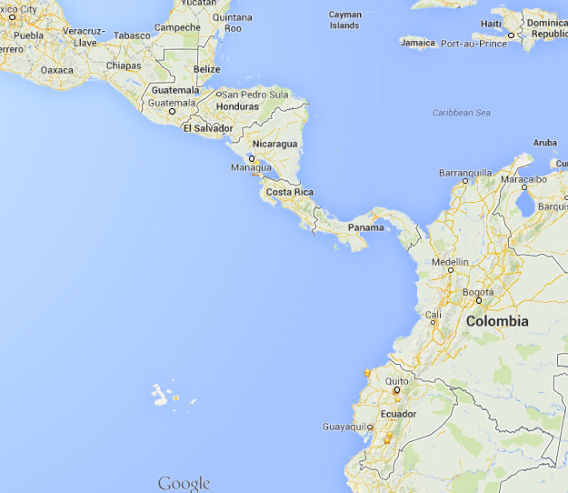 Map central america